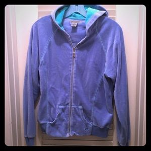 Bundle 2 retro velour leisure suit zip sweat blue